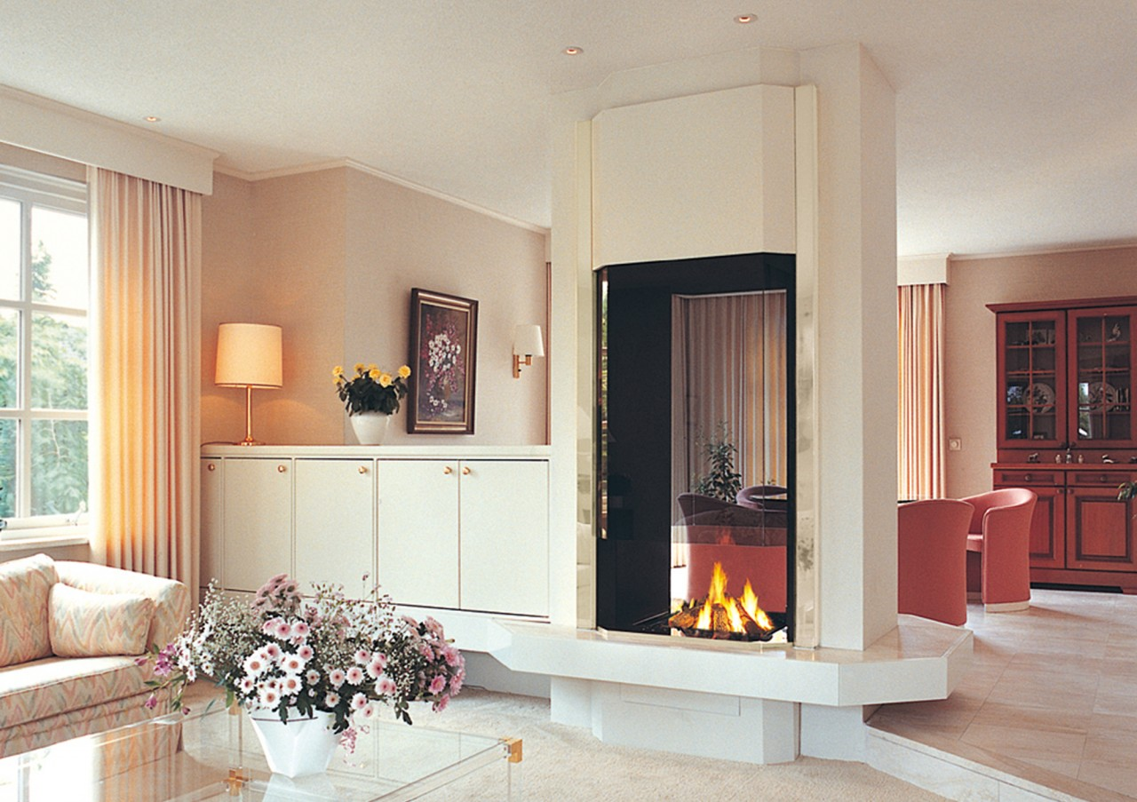 21 Unique Double Sided Fire Place Home Plans