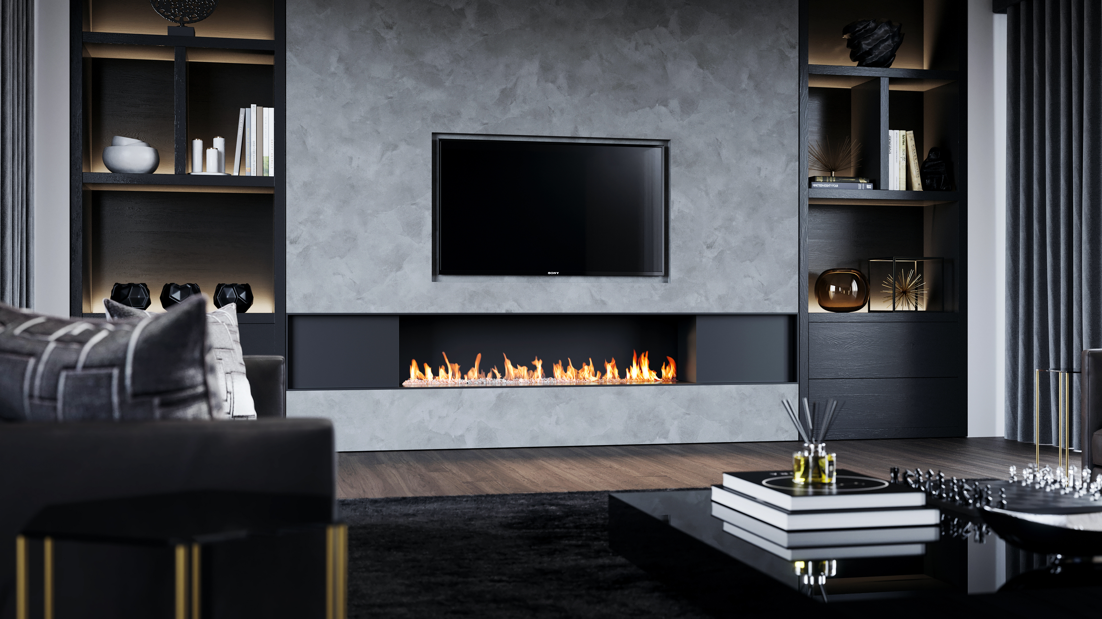 bespoke fireplaces - modern fireplaces - wall fire