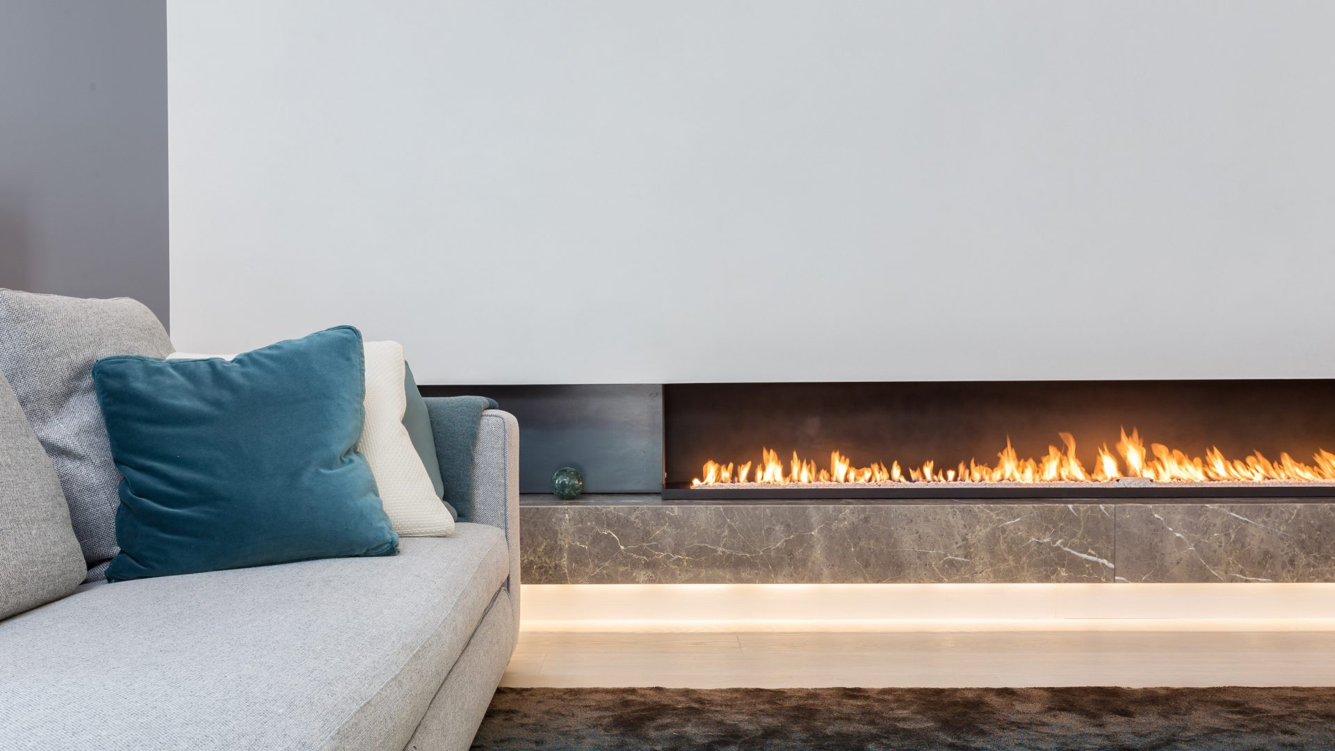 Modern gas fire - wall fire - modern fireplaces