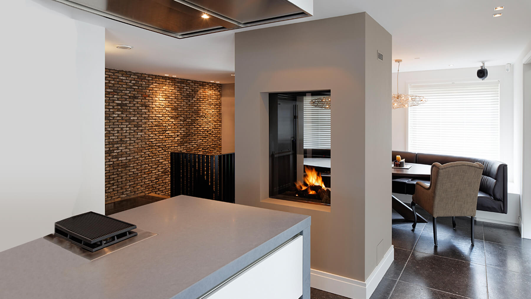 double sided wall fire