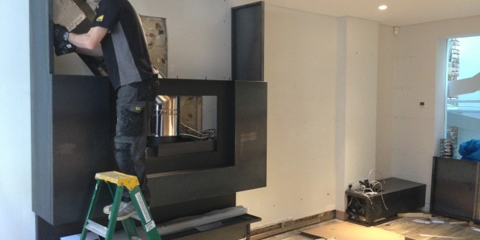 bespoke fireplace installation