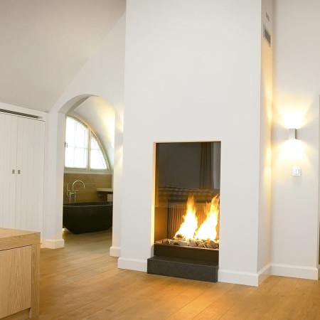 850 Closed Modern Balanced Flue Gas Fire Wall Fire