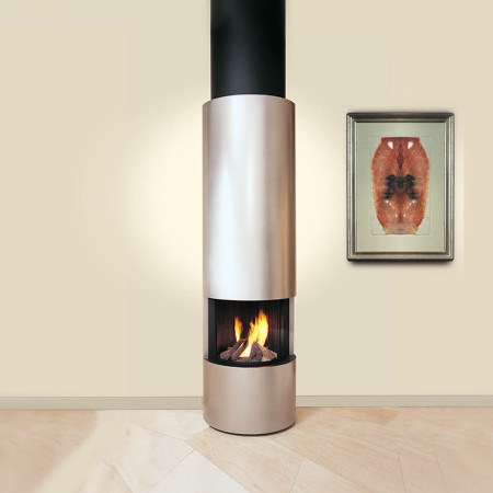 designer fireplaces circular suspended