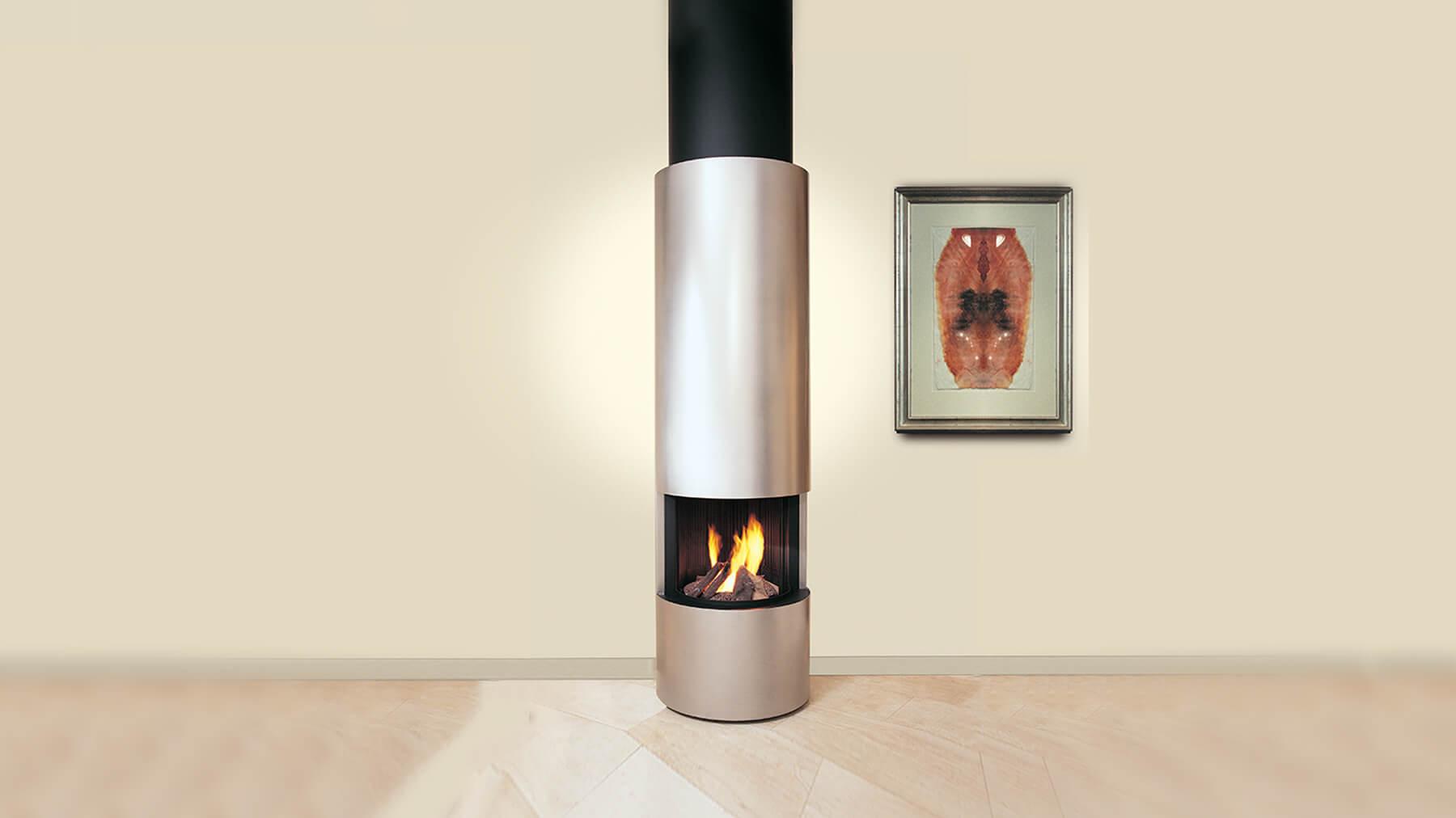 designer fireplaces circular suspended