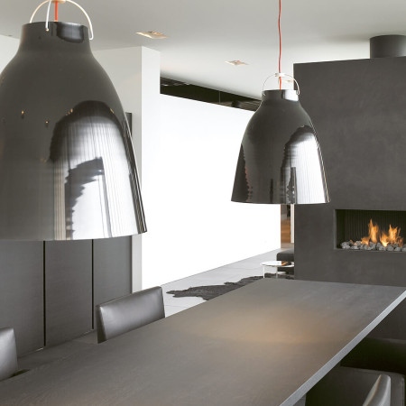 designer hole in the wall fireplace