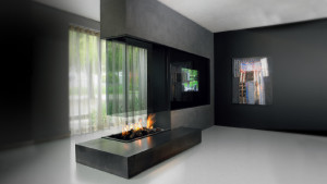 double sided gas fire