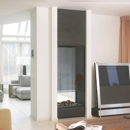 twodouble sided fireplace
