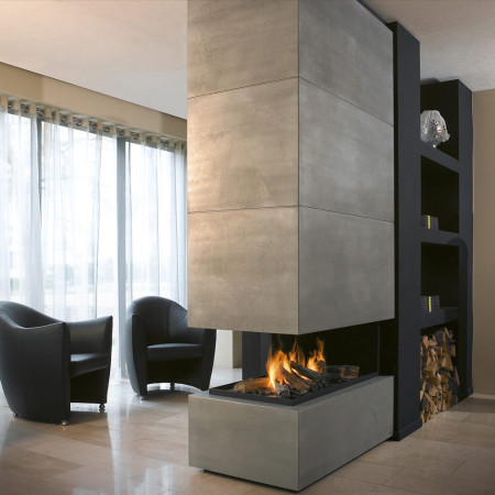 Linear Gas Fireplace >> Hanging fireplace I Suspended Fireplace I Ceiling Hung ...