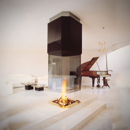 hanging fireplace