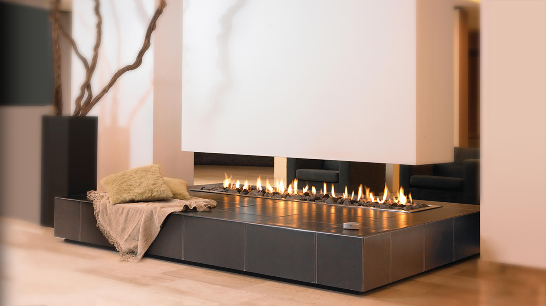 2000 Suspended Leather Hanging Fireplace Modus Fireplaces
