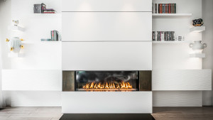 contemporary high efficiency fireplace design