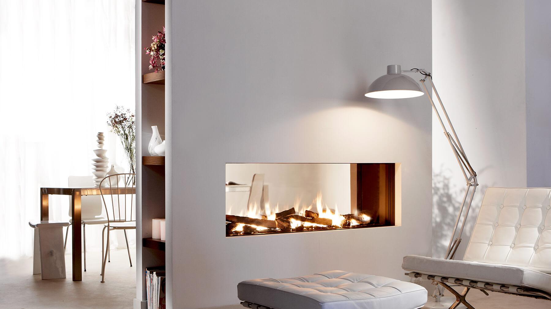 Balanced Flue Gas Fireplace I Double Sided Fire