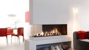 double sided high efficiency gas fire