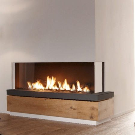gas fire corner design