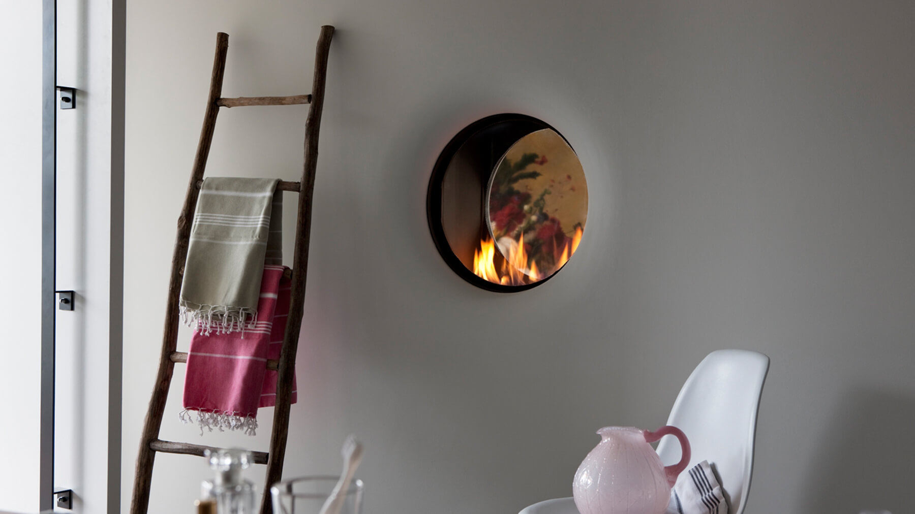 High efficiency gas fire i double sided gas fire circular hole in the wall gas fire teraionfo