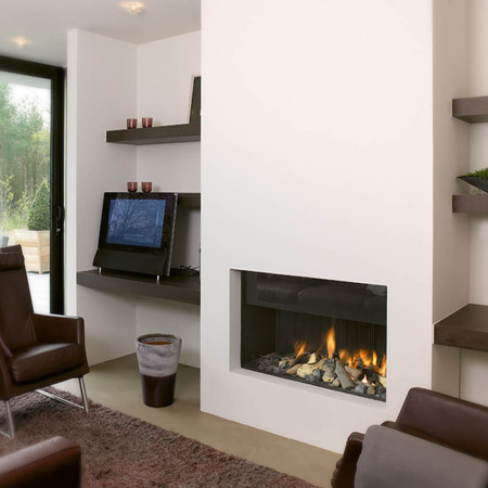Are you looking for luxury wall fires for your home? At Modus fireplaces we have a huge collection of hole in the wall gas fires and wood fires.