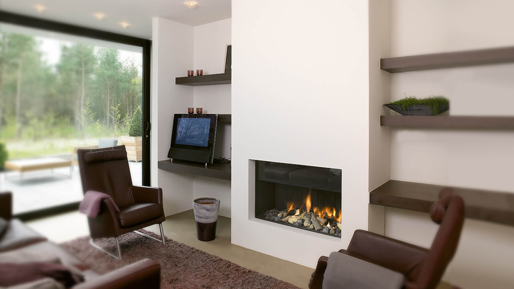 Hole in the wall fireplace i contemporary fireplaces - Build contemporary fireplace ideas ...