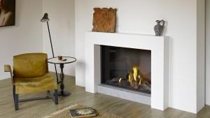 large high efficiency gas fire