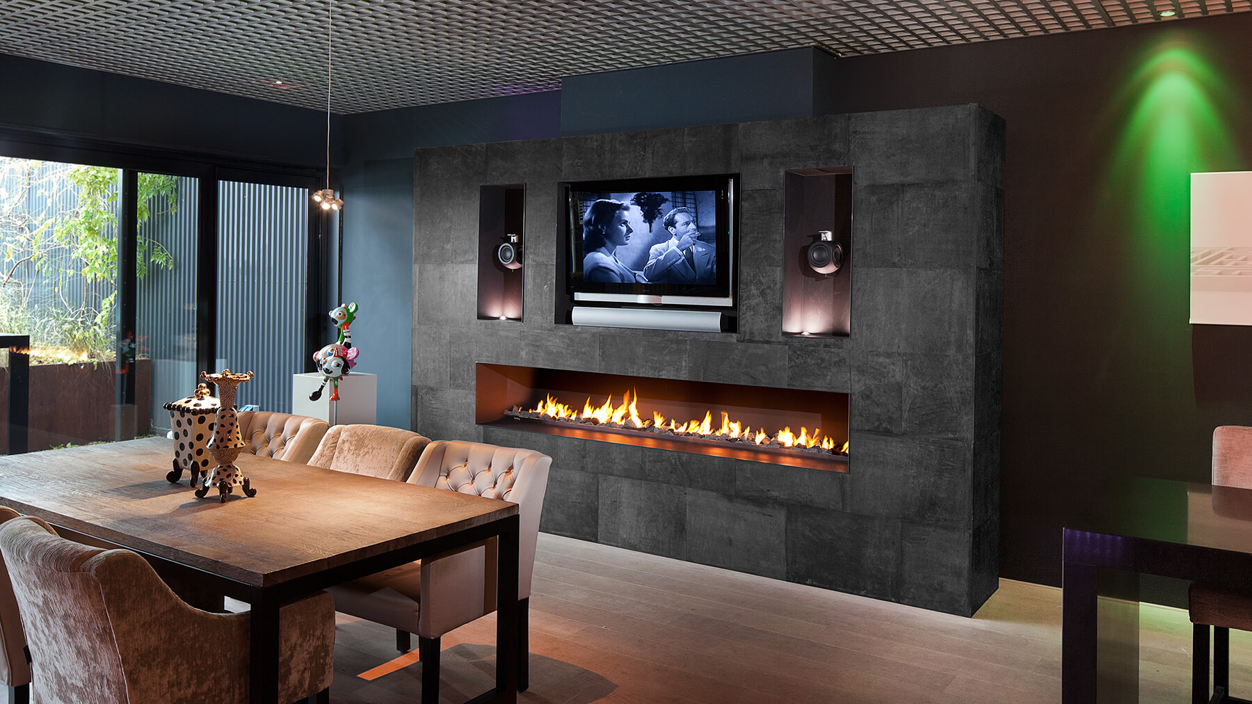luxury gas fireplace