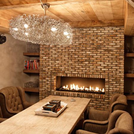 modern brick fireplaces