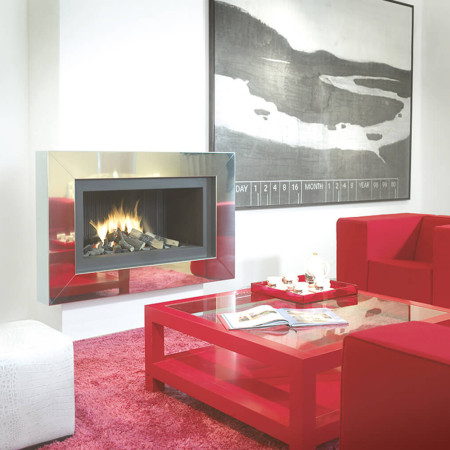 modern fireplaces with frame design