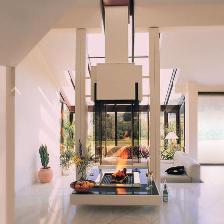 suspended bespoke fireplace design