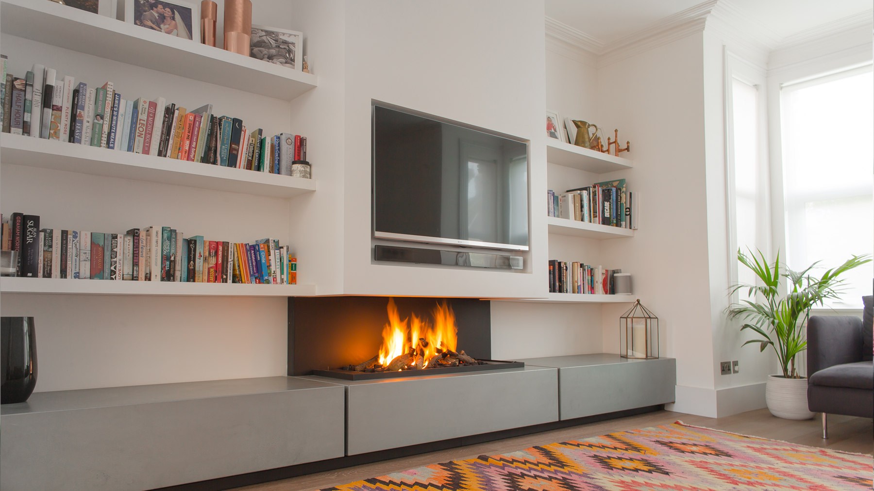 Efficiency of gas fireplace - Tv Above Fireplace
