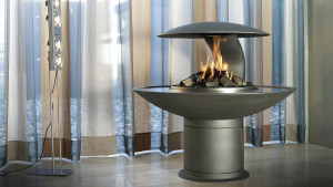 two sided open fireplace