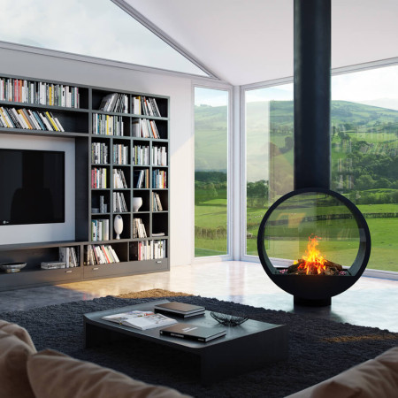 Double Sided Fireplace I Two Sided Fireplace I Tunnel Fireplace I ...
