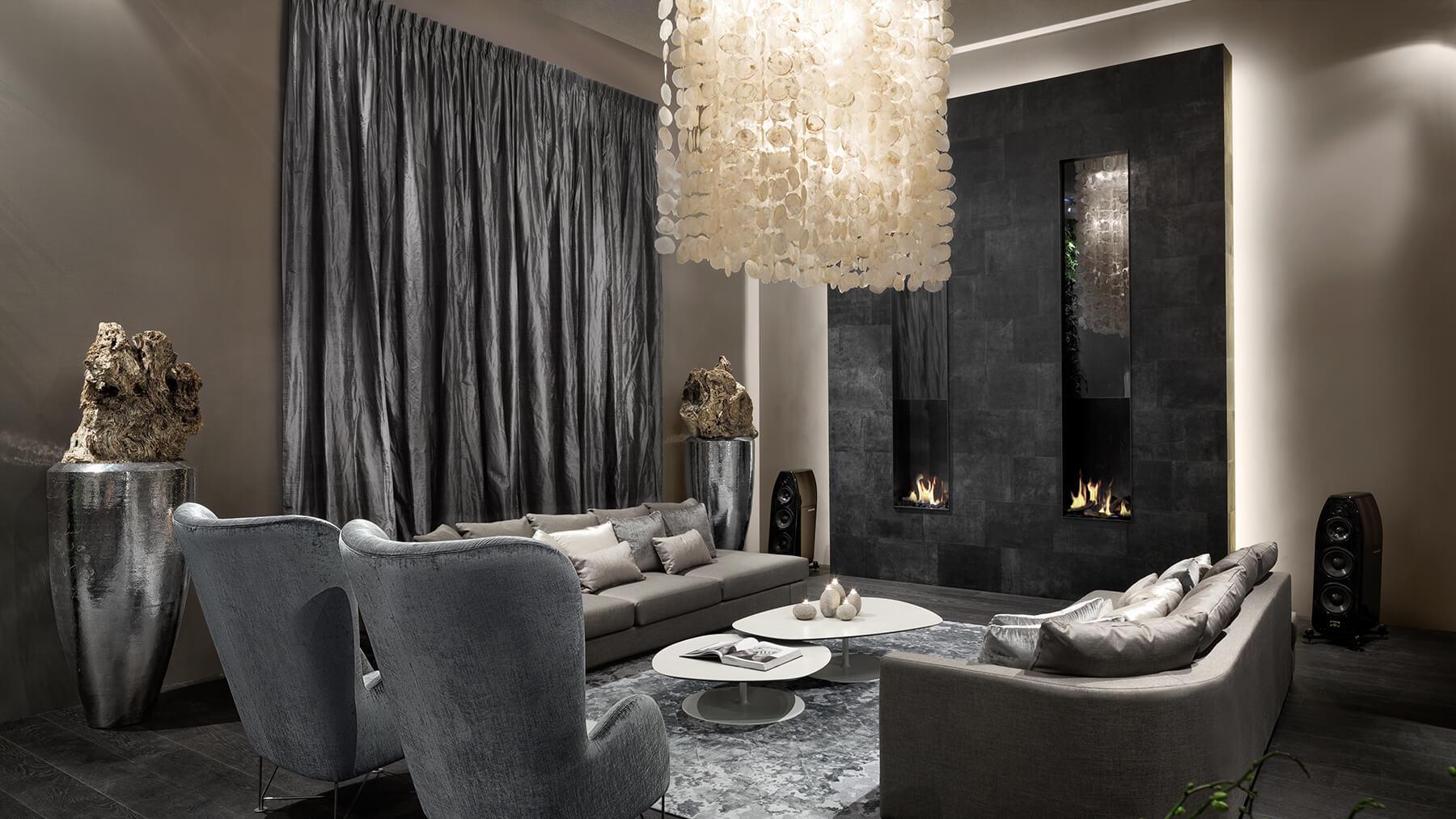bespoke double fireplace