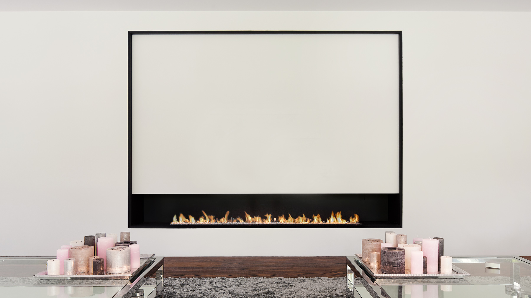 2600 White I Modern Gas Fire