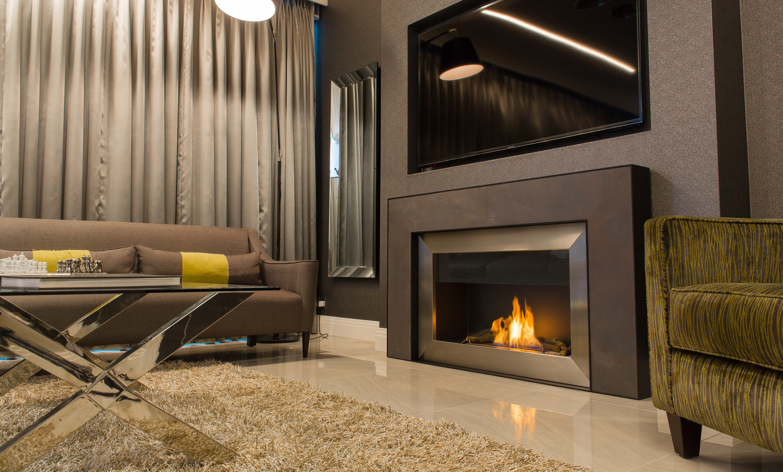 designer fireplaces i bespoke fireplaces - modern open wall fire surround br slate designer fireplace