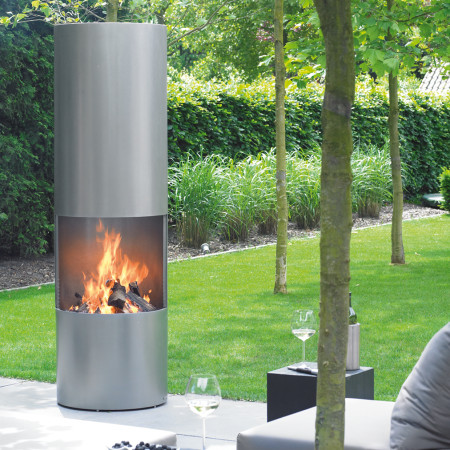 circular outdoor wood fire