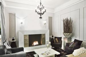 modern bioethanol fireplace
