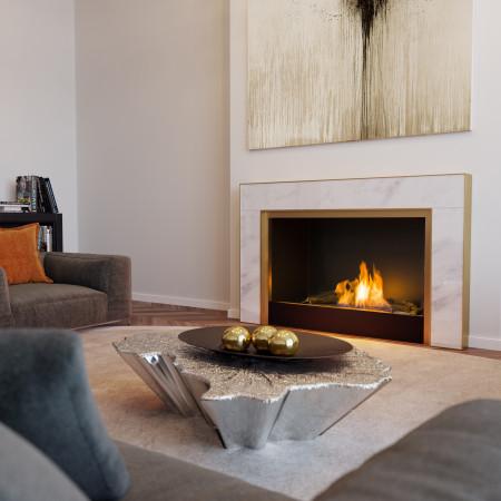 White Gold I Modern Fire Surround
