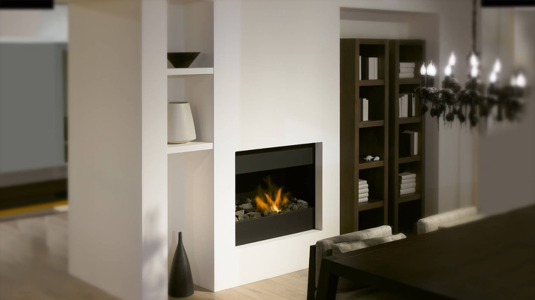 Monochrome-fireplace