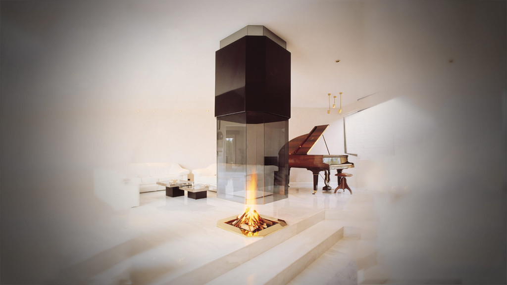 Suspended-fireplace
