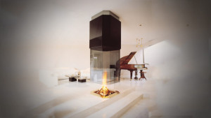 luxury Suspended fireplace