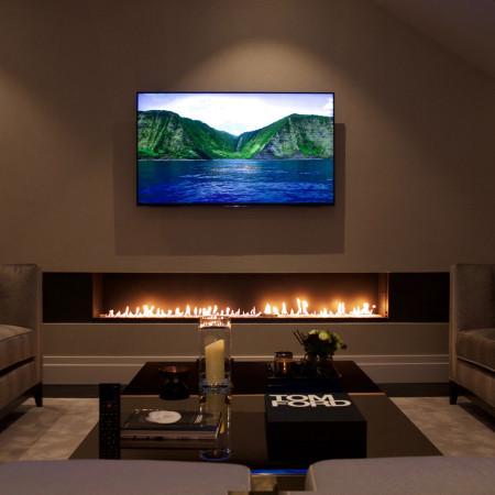 TV Above Fireplace | Fireplace TV | Modus Fireplaces