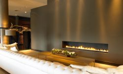 frameless bespoke fireplace
