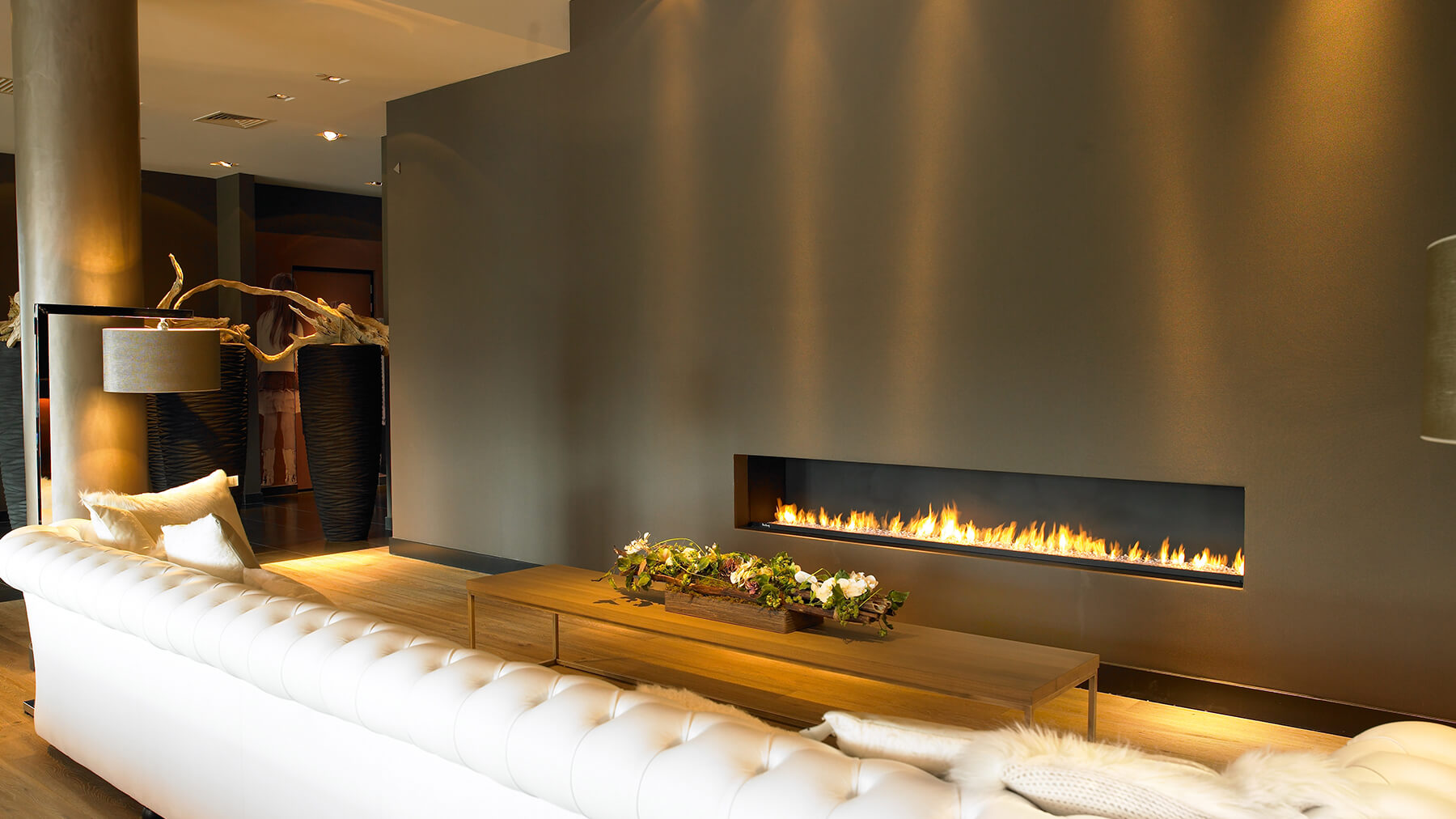 Best designs for modern gas fires for Luxury fireplace designs