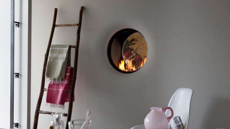 circular gas fire