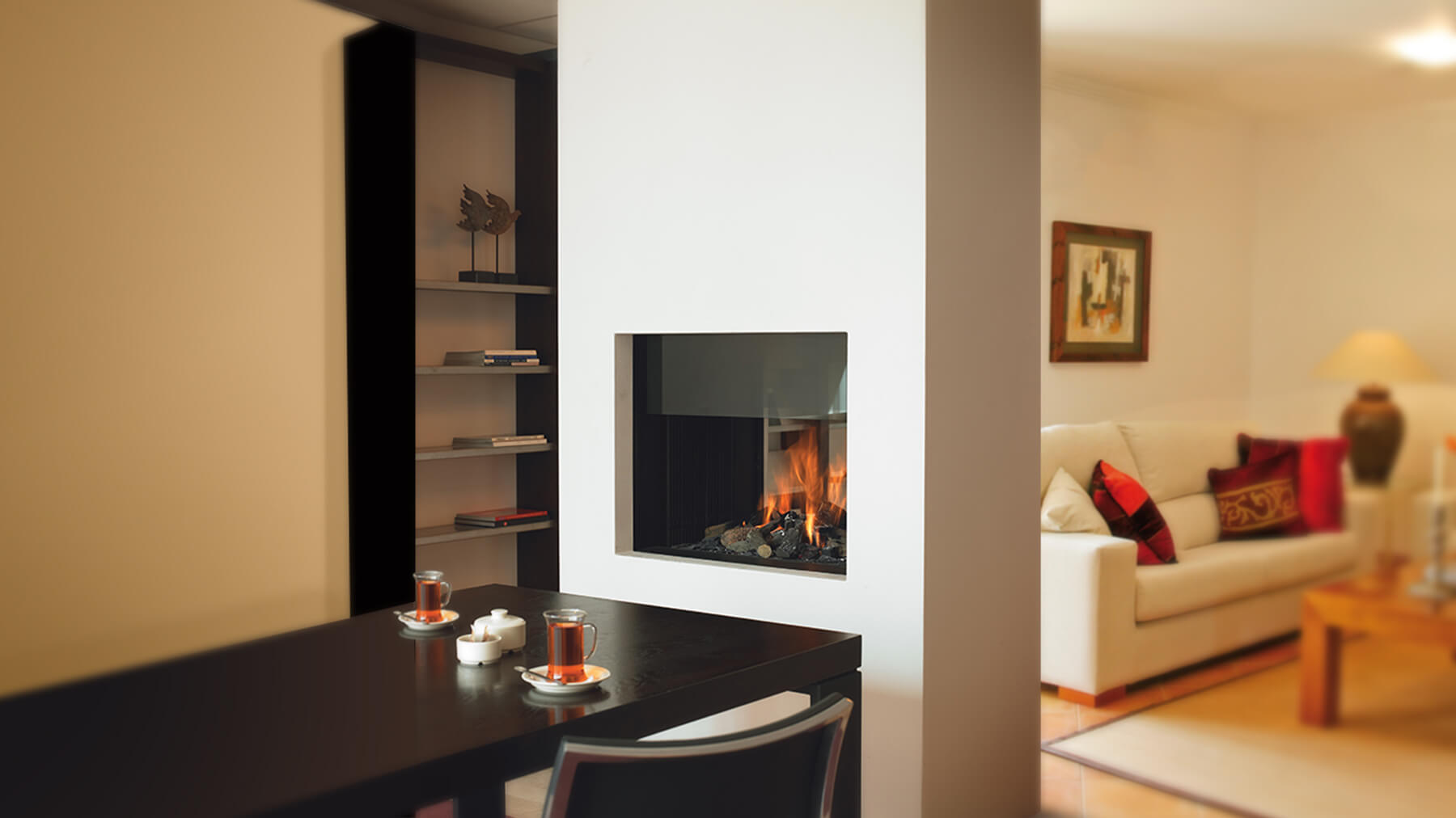 tag hearth horizon large sided fireplace ff home tunnel fires in bell calgary gas insert fireplaces double