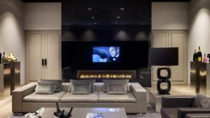 Sleek Entertainment Area