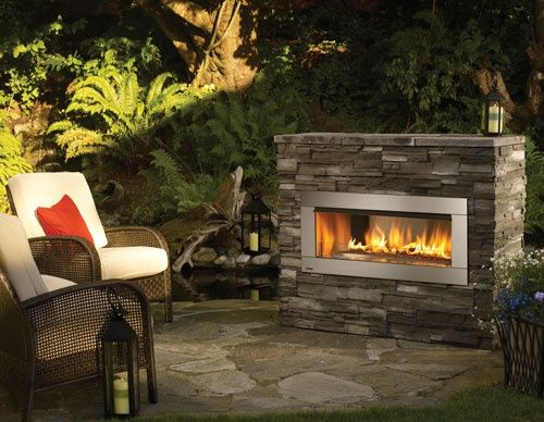 outdoor modern gas fires