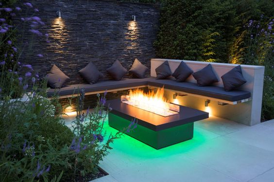 size outdoor modern gas fires