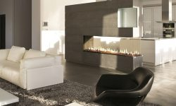 Open concept gas fire