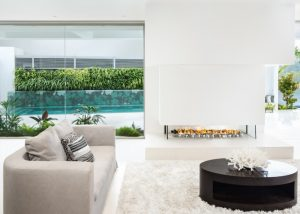 Minimal design for gas fireplace - modern fireplaces