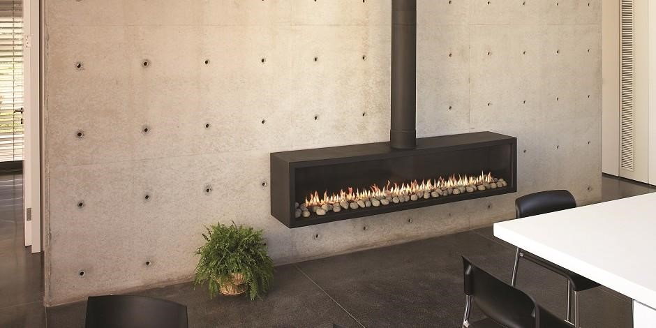 Industrial gas fireplace