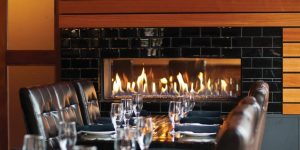 Tunnel gas fire - modern fireplaces - wall fire